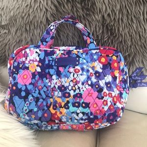 Vera Bradley cosmetic/makeup bag with handles